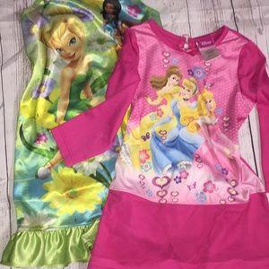 👗 Disney Princess Tinker Bell Fairy night gowns